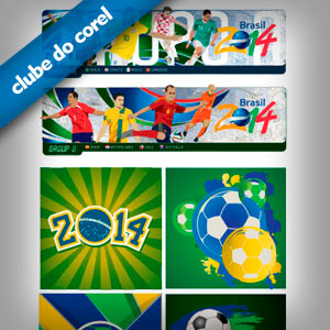 Vetores Brindes Copa do Mundo - Brasil 2014 - Clube do Corel