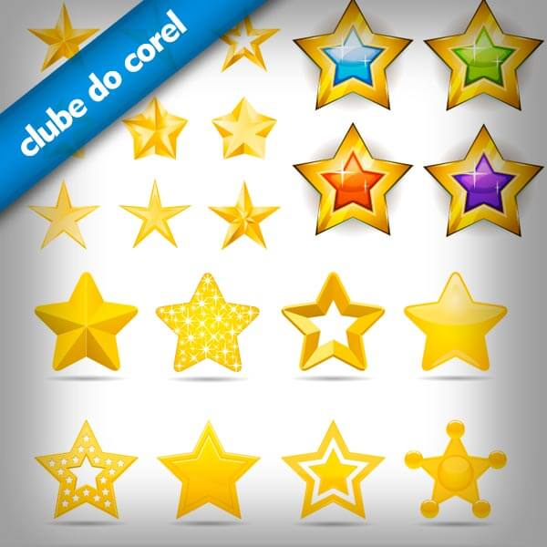 Estrelas-Vetorizadas-CorelDRAW-Clube-do-Corel