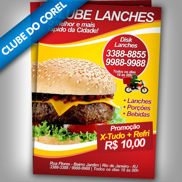 Panfleto-Lanchonete---Clube-do-Corel