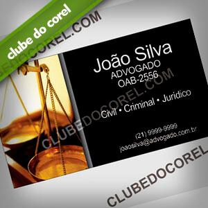 Modelo Cartão Visita Advogado