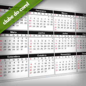 Calendario 2013 CorelDRAW