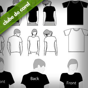 Modelo Camisas Vetorizadas - Clube do Corel