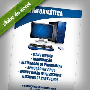 Panfleto Loja Informática - Clube do Corel