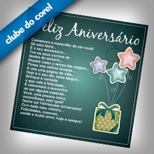 Cartão Aniversário Personalizado Clube Do Corel