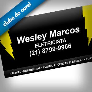 Cartão de Visita Eletricista Clube do Corel