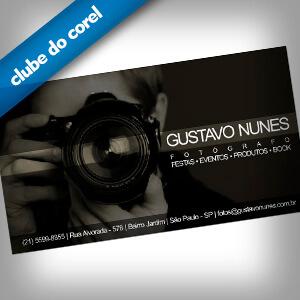 Cartão de Visita Fotógrafo - Clube do Corel
