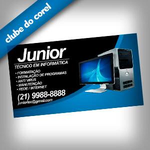 Cartão de Visita Informática Clube do Corel