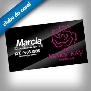 Cartão de Visita Mary Kay - Clube do Corel
