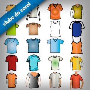 20 Modelos de Camisas Vetorizadas - Clube do Corel