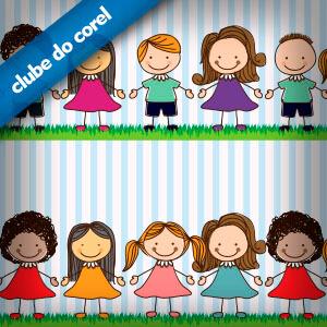 Crianças Vetorizadas - Clube do Corel