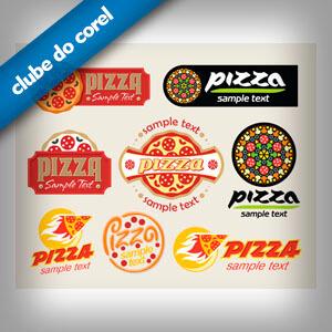Modelo Logo Pizzaria - Clube do Corel