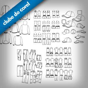+100 Modelos Camisas, Calças, Bonés e Moletons - Clube do Corel
