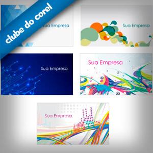 Cartão De Visita Criativos 5 Modelos Prontos Clube Do Corel