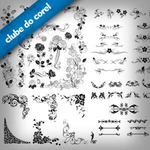 Florais e Arabescos Decorativos - Clube do Corel