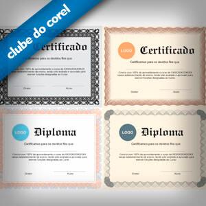 Modelos de Certificados e Diplomas - Clube do Corel