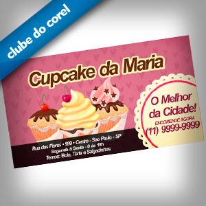 Cartão de Visita Cupcake - Clube do Corel