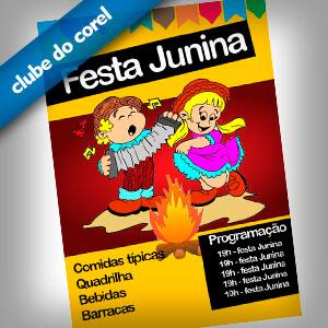 Cartaz Festa Junina - São João - Clube do Corel