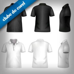 Camisa Polo Vetorizadas Modelos - Clube do Corel