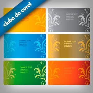 Cartão de Visita - Florais e Arabecos - Clube do Corel