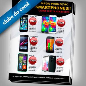 Modelo Panfleto - Promoção Celulares e Smartphones