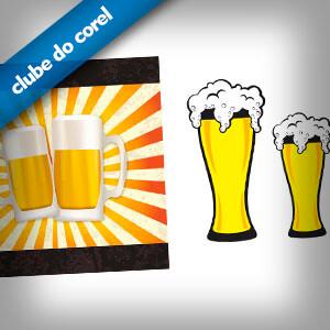 Cerveja e Chopp Vetorizados - Clube do Corel