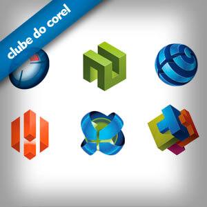 Modelos Logo 3D - Clube do Corel
