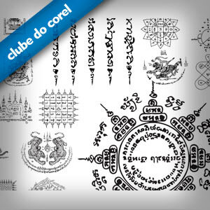 Vetores Tatuagens e Arabescos Thailandeses