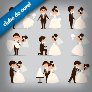 convites de casamento clube do corel