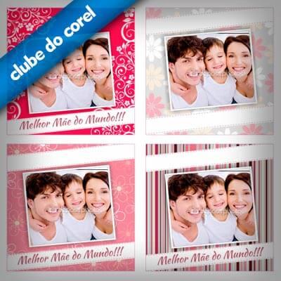 Almofada Personalizada Dia das Mães - Clube do Corel