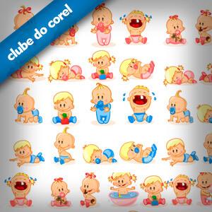 Bebes-Criancas-Vetorizados-CorelDRAW---Clube-do-Corel