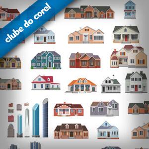 Predios-Casas-e-Construcoes-Vetorizadas-CorelDRAW---Clube-do-Corel