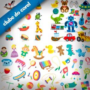 Brinquedos-Vetorizados-CDR---Clube-do-Corel