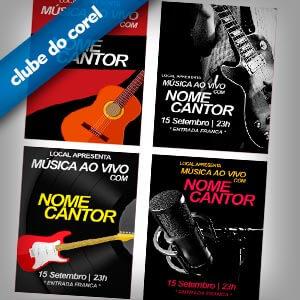 Cartaz-Música-Ao-Vivo-4-Modelos-CDR---Clube-do-Corel