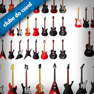 Guitarras-e-Violão-Vetorizados-CDR---Clube-do-Corel