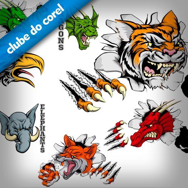 Mascotes-Times-Vetorizados-CDR-CorelDRAW---Clube-do-Corel
