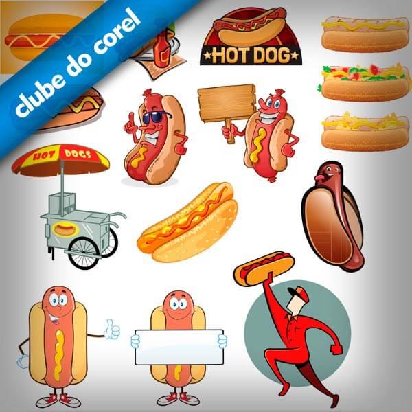 Cachorro-Quente-Hot-Dog-Vetores-CDR-CorelDRAW-Clube-do-COrel