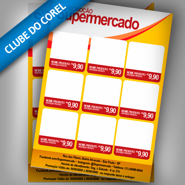 Panfleto--Supermercado---CorelDRAW---CDR---Clube-do-Corel