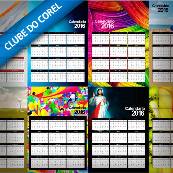 Calendário 2016 10 Modelos prontos para editar e imprimir