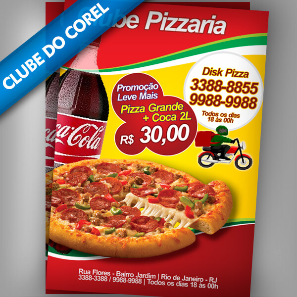 Panfleto-Pizzaria---Clube-do-Corel