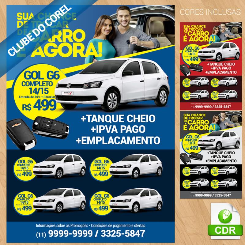 Panfleto-Venda-de-Carros---Modelo-Pronto---Clube-do-Corel-