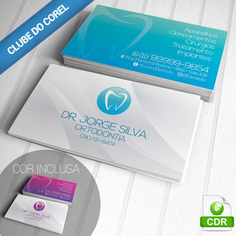 Cartao-de-Visita-Dentista---Modelo-pronto-CorelDRAW---Clube-do-Corel---Cores-e-Modelos