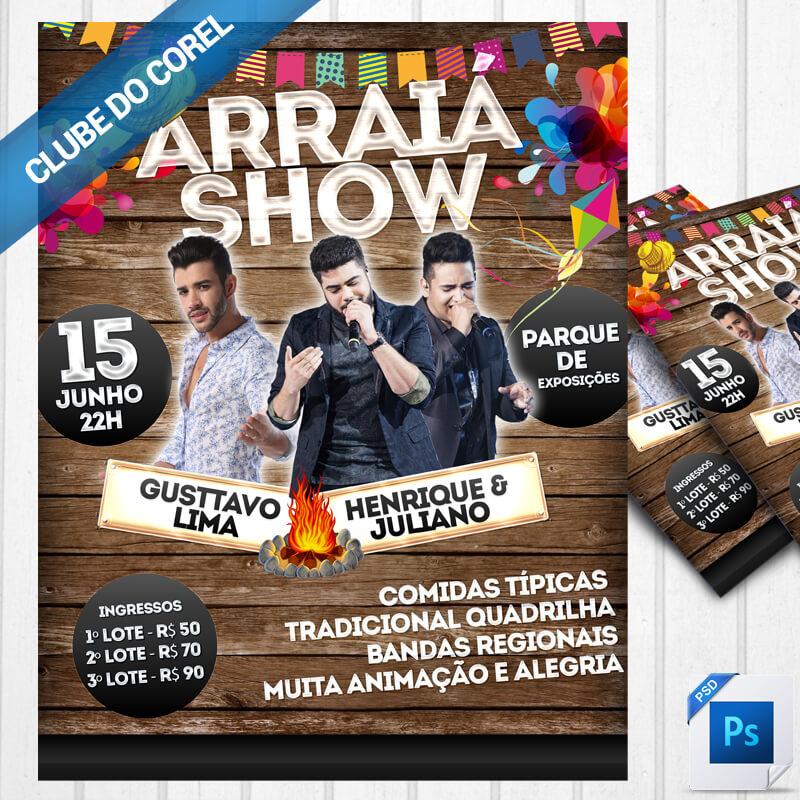 Top Flyer Cartaz Festa Junina PSD - Modelo Pronto | Clube do Corel WU94