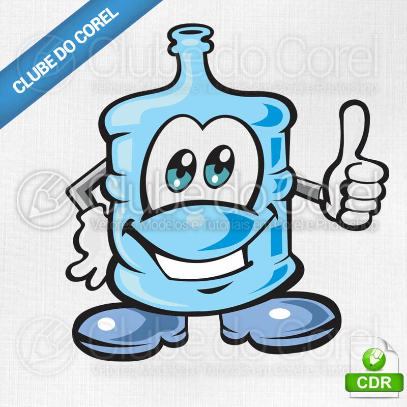 Mascote-Água-Mineral---Vetorizado-Desenho---Vetorizado-CorelDRAW-Vetor-Clube-do-Corel-Modelo-Pronto