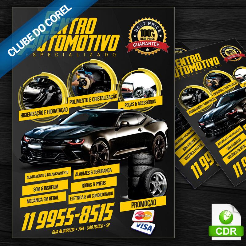 Panfleto Centro Automotivo - Clube do Corel - Imagem Destaque
