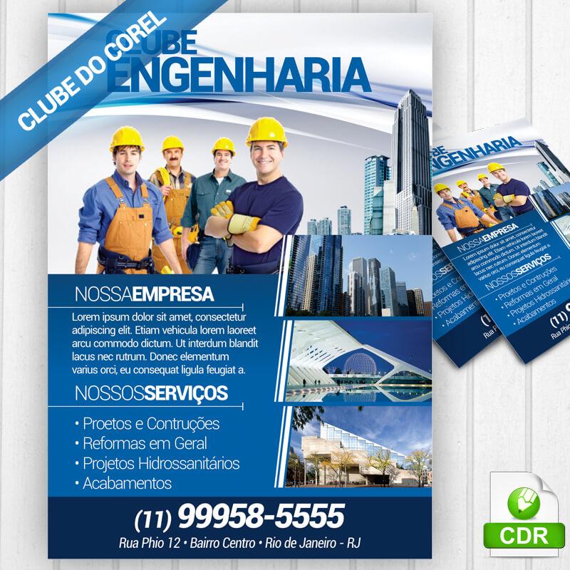 Panfleto-Engenharia-e-Contrutora---MOdelo-pronto-Editar-e-Imprimir---CorelDRAW-Clube-do-Corel