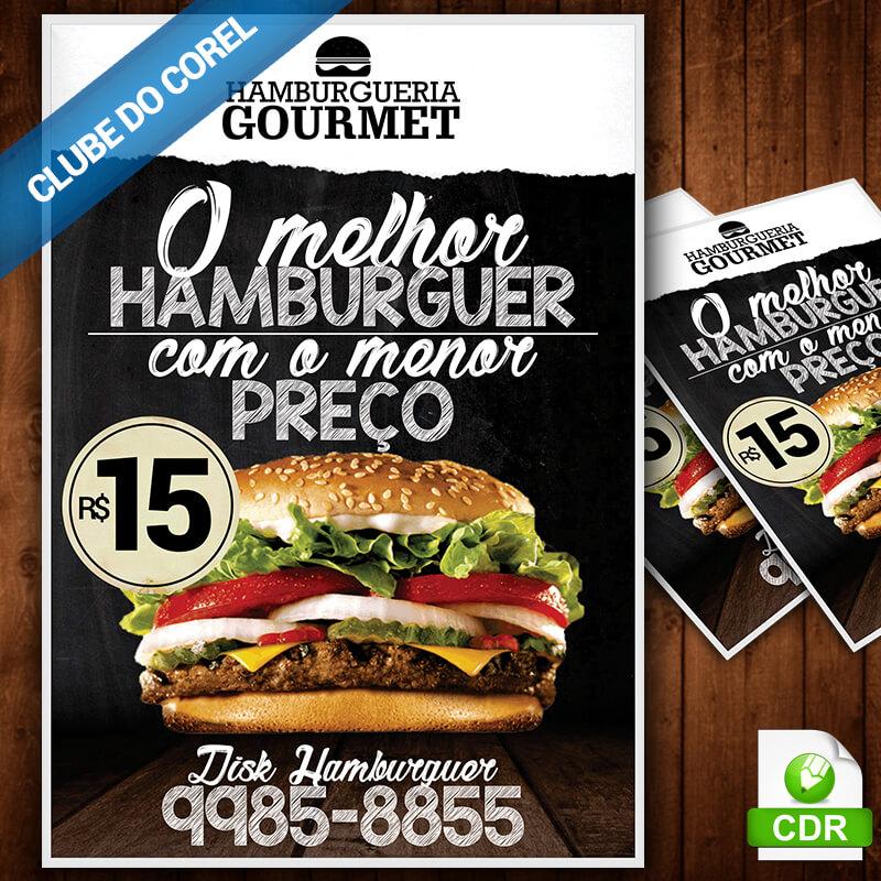 Panfleto-Hamburguer-gourmet-artesanal---Clube-do-Corel