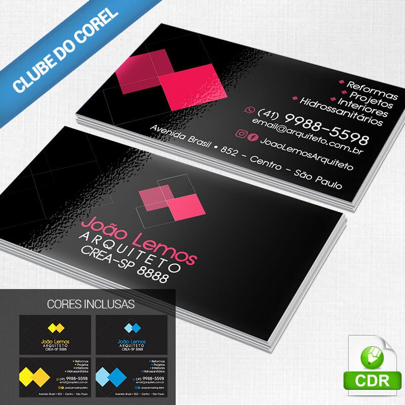 Cartão-de-Visita-Arquiteto---Clube-do-Corel-Modelo-Pronto-Editar-Imprimir-Arquitetura-imagem