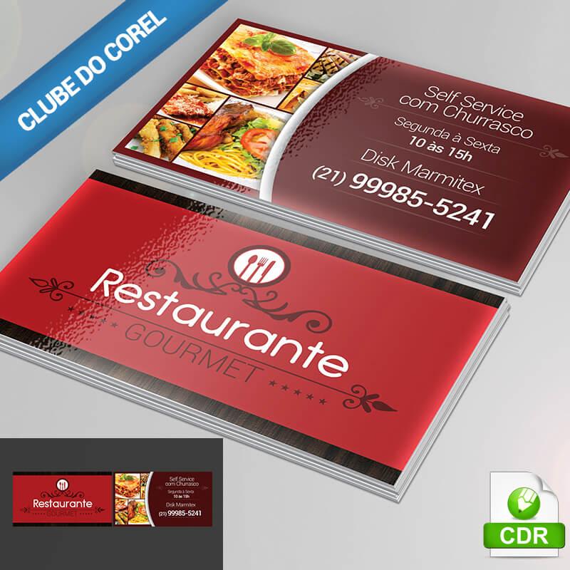 Cartão-de-Visita-Restaurante-Modelo-Pronto-Clube-do-Corel-imagem